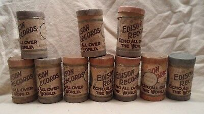 #2 Lot of 10 Antique Edison Phonograph Cylinder Records