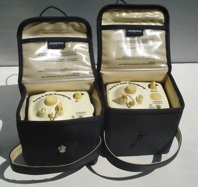 Lot Of 2 Medela Breast Pump In Style Motors  with Case and 1 Ac Adapter