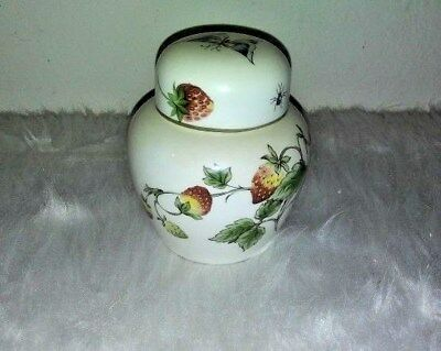Vintage Coal Port Bone China Strawberry  Dish With Lid  Made in England EUC