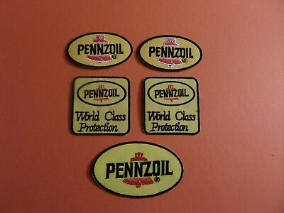 Lot Of 5 -Pennzoil Embroidered Iron Patches