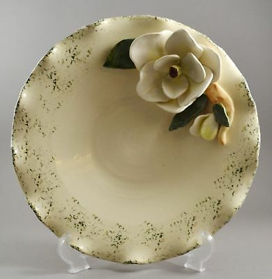 North Carolina Piney Woods Pottery Serving Bowl or Plate w/ Magnolia