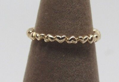 SALE! New Pandora 14 kt Gold Forever Love Heart Ring #150160 Hearts  w/Hinge Box