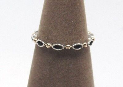 New Pandora w/Hinge Box Always & Forever Sterling Silver 14 kt Gold Ring 190873