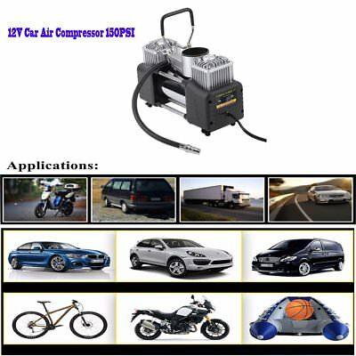Heavy duty 12V 150PSI Double Cylinder Air Pump Compressor Car Tire Tyre Inflator