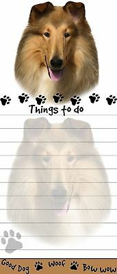 Collie Magnetic Grocery List Pad Sticky Notes Magnet Refrigerater