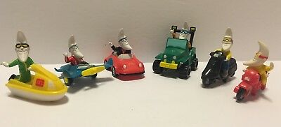 Vintage 1988 McDonald's Kids Happy Meal Mac Tonight (6) Vehicles Moon Man