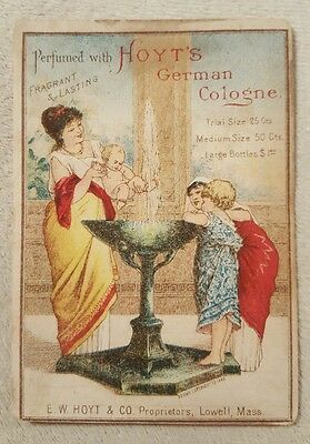 Vintage Antique Victorian Trade Card Hoyt's German Cologne Lowell, MA
