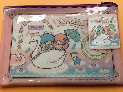 SANRIO little twin stars ☆ kiki & lala Kawaii !Cosmetic pouch Zipper Bag FREE/S