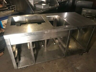 Stainless steel restaurant counter or food truck equipment stand - SEND OFFER