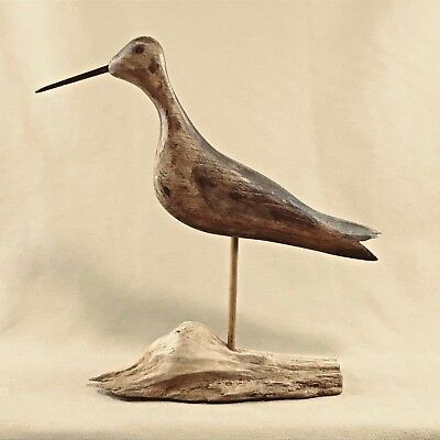 Shorebird Decoy on Driftwood base - Hand Carved and Painted USA