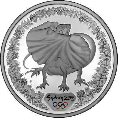 Frilled Neck Lizard - The 2000 Sydney Olympics 1oz Silver Proof Coin Set