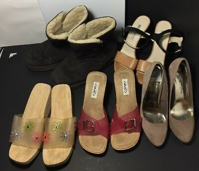 Mixed Lot Of 5 Pair Size Sz 8 Used Ladies Womens Shoes