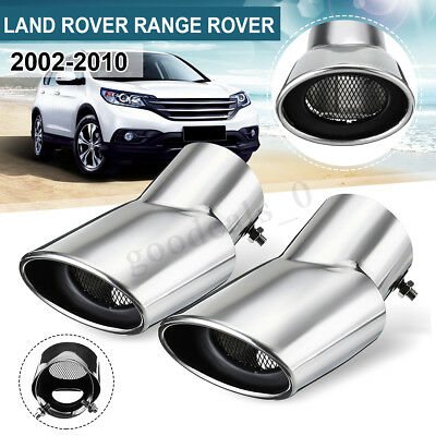Stainless Steel Oval Tail Pipe Exhaust Muffler For Land Range Rover Sport Diesel