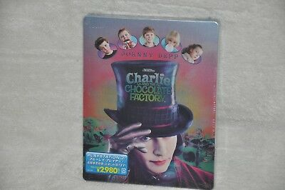 New Charlie and the Chocolate Factory Japan Limited Edition Blu Ray Steelbook