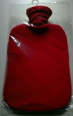 FASHY 2.0L HOT WATER BOTTLE WITH FLEECE COVER Made in Germany (6530 42)