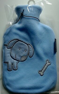 FASHY 0.8L HOT WATER BOTTLE WITH FLEECE COVER Made in Germany (6505 51)