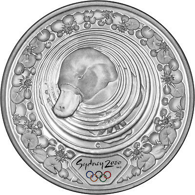 Platypus & Water Lily - The 2000 Sydney Olympics 1oz Silver Proof Coin Set