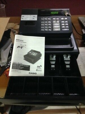 Cash Register: Casio_PCR-272 used; like new_owners manual included