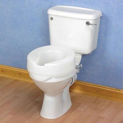 Raised Toilet Seat Without Lid Mobility Disability Aid. 4 in Height Comfort NEW