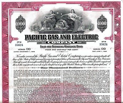Pacific Gas and Electric Company, 1958, 4 1/2% Mortgage Bond Ser. DD (1.000 $)