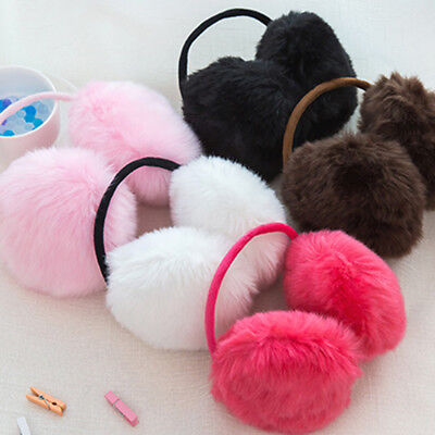 Faux Rabbit Fur Plush 6 Color Ear Muffs Fashional Pure Cute Warmer