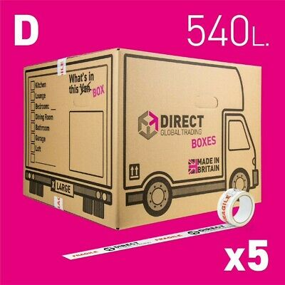 5 Strong Extra Large Cardboard Storage Packing Moving House Boxes Double Walled