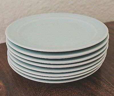 """Taylor Smith & Taylor LURAY PASTELS Green 6 3/8"""" Bread Butter Plate (Set of 8)"""