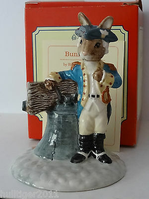 Royal Doulton Db257 Liberty Bell Bunnykins Limited Edition 2000 Mib Certificate
