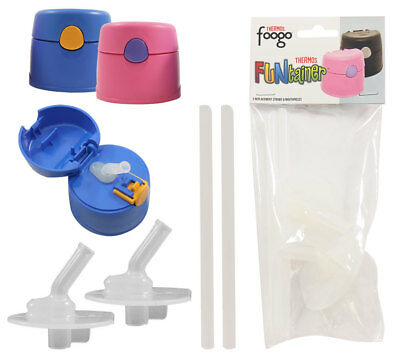New! THERMOS Funtainer + Foogo 2 Replacement Straws & Mouthpieces Set (F400RP)