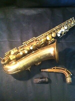 Vintage 1940's Pan American Elkhart IN USA Alto Saxophone Model 58 M # I 870