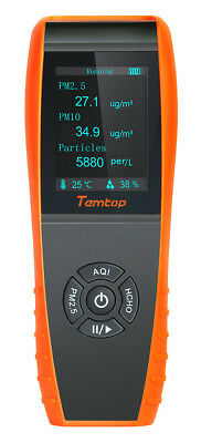 Temtop LKC-1000S Air Quality Formaldehyde Monitor Detector with PM2.5/PM10/HCHO