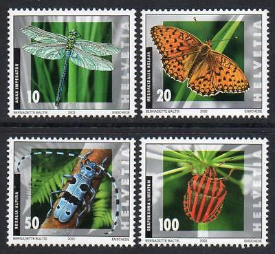 SWITZERLAND MNH 2002 SG1516-19 Insects
