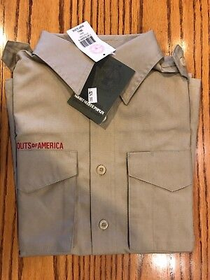 Official BSA Boy Scout Tan Uniform Shirt short sleeve youth small NEW Webelos