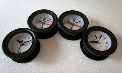 4 pcs SHIP'S Wall Clock - All Different - BOAT / MARINE / NAUTICAL (5011)
