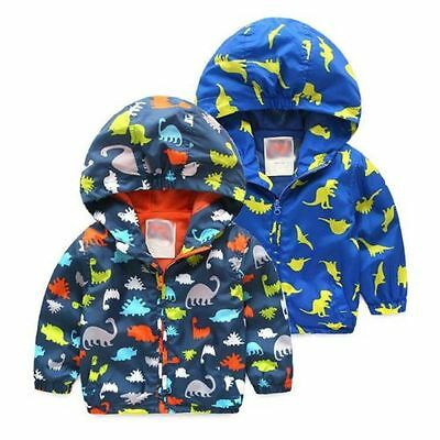 Toddler Baby Boys/Girls outerwear Hooded Cartoon Jacket Kids Baby coat Clothes
