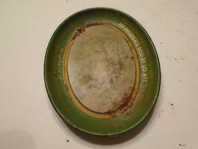 Antique International Harvester Advertising Tip Tray Chas W Shonk Co. Old Rare