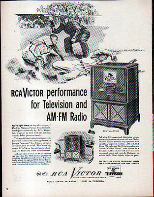 1949 Rca Victor Television Ad- With Am-Fm Radio