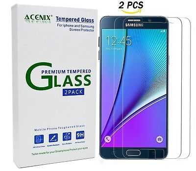 ACENIX® [ 2 Pack ] Tempered Glass Screen Protector for Samsung Galaxy Note 5