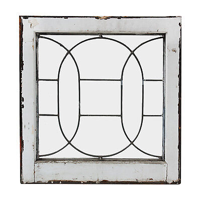 Antique American Leaded Glass Window, Early 1900s, NLG167