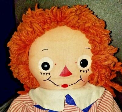 Rare Georgene Raggedy Andy Johnny Gruelle 20' Silsby W/ Outfit Vgc Nr