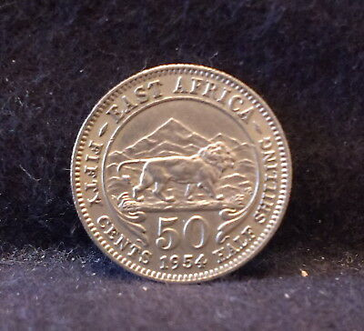 1954 British East Africa 50 cent, Royal Mint, KM-36