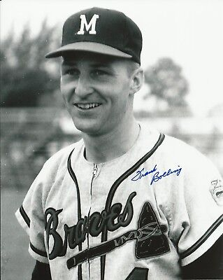 Frank Bolling 1961-1965 Milwaukee Braves Autographed Signed 8x10 Photo COA
