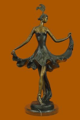 Hand Made Hot Cast  Spanish Bronze Figure of a Flamenco Dancer Sculpture Decor