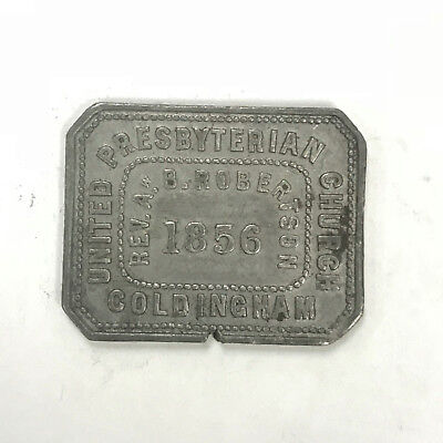 1856 Coldingham Scotland - Communion Token