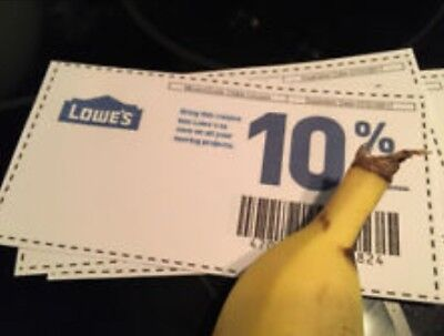 Five (5x) Lowes 10% Off Coupons Exp 2/28/2018 MAILED TO BUYERS