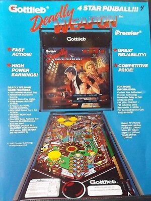 Deadly Weapon Pinball Flyer
