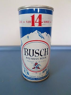 Vintage Busch Bavarian Anheuser Busch St Louis 14 oz Straight Steel Beer Can