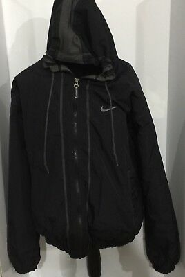 Nike Men's Size X Large Winter Jacket Black And Gray Vintage Nike Coat Xtra L