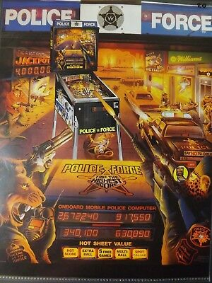 Police Force Pinball Flyer