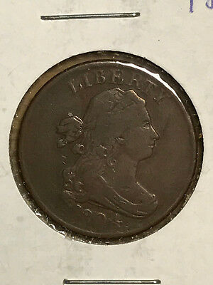 1804 Draped Bust Half Cent - F to VF details